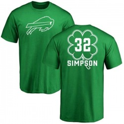 Youth O. J. Simpson Buffalo Bills Green St. Patrick's Day Name & Number T-Shirt
